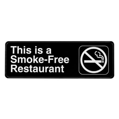 "Alpine Industries 3""X9"" Smoke-Free Restaurant Sign ALPSGN-23"