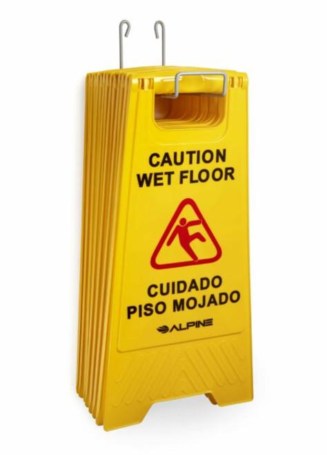 Stainless Steel Wet Floor Sign Holder - ALP499-HOLDER