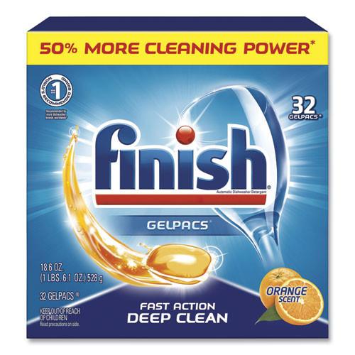 Finish Dishwash Detergent Gelpacs , Orange Scent