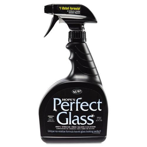 Hopes Perfect Glass Cleaner Spray 32 Oz Bottle