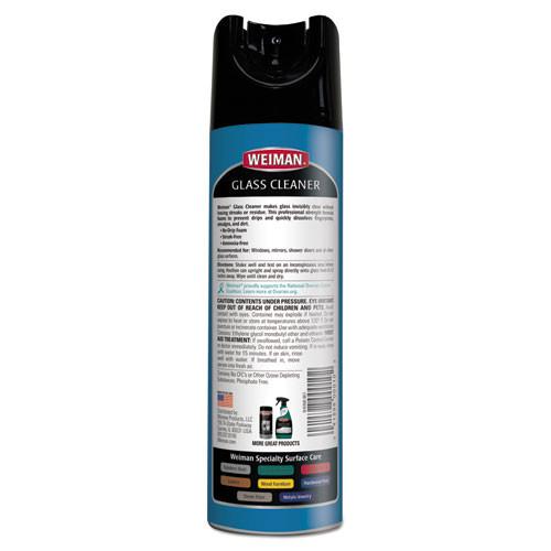 Weiman Foaming Glass Cleaner 19 oz Aerosol Spray Can