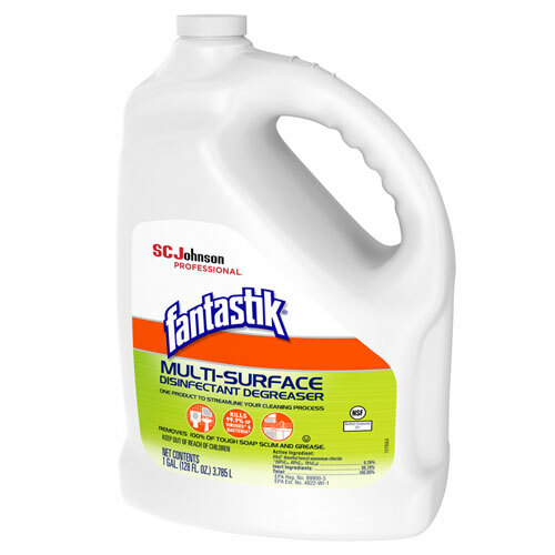 SC Johnson Professional Fantastik Multi-Surface Disinfectant Degreaser, Pleasant Scent, 1 Gallon Bottle