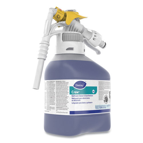 Diversey Crew Bathroom Cleaner and Scale Remover, Liquid, 50.7 oz Bottle