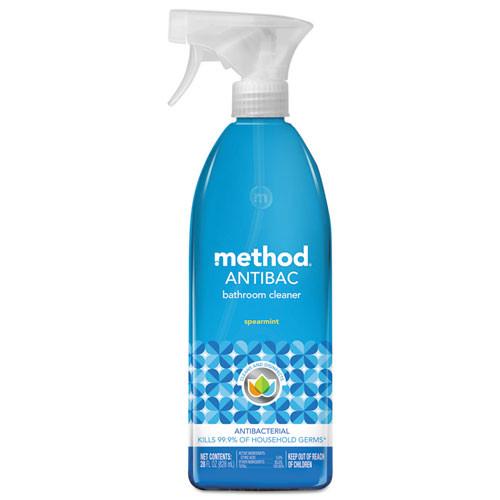 Method Antibacteria Bathroom Cleaner, Spearmint Scent, 28 oz Spray Bottle
