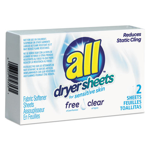 All Free Clear Dryer Sheets for Sensitive Skin VEN2979353