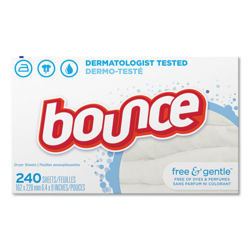 bounce Free and Gentle Fabric Softener Dryer Sheets  PGC24684