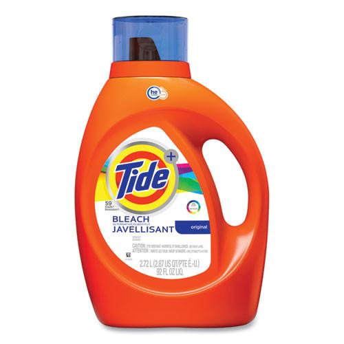 Tide Laundry Detergent Plus Bleach, HE Compatible, Original Scent, 92 oz Bottle PGC87549
