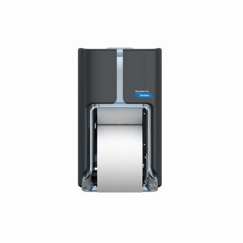 Cascade Pro Tandem Top-Bottom High-Capacity Toilet Paper Dispenser C310- Dark Grey