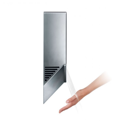 Dyson Airblade V, Automatic Hand Dryer, White (AB12W) - Side View In Use