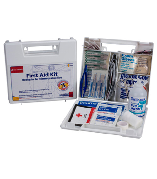 First Aid Only First Aid Kit (OSHA), Plastic Case, 107-Piece First Aid Kit, Small, 223-U/FAO