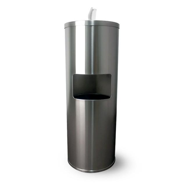 Zogics Stainless Steel Gym Wipes Floor Dispenser with Door