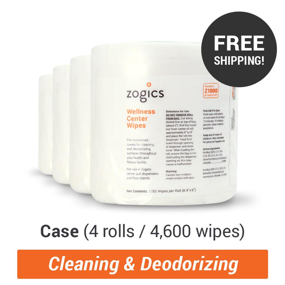 Zogics Wellness Center Wipes
