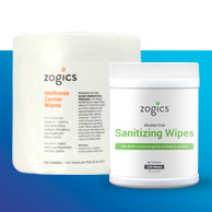 Zogics Disinfecting and Sanitizing Wipes