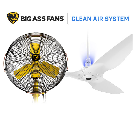 Reduce infection by 95% with Big Ass Fans® Clean Air System