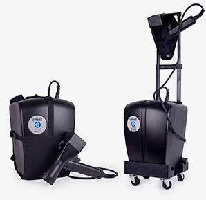 EMist Electrostatic Disinfectant Sprayer Cordless Backpack and Roller Cart