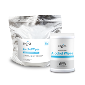 Zogics 75% Alcohol Wipes