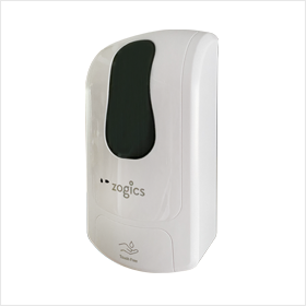 Zogics Wall Mounted Touch-Free Gel Hand Sanitizer Dispenser
