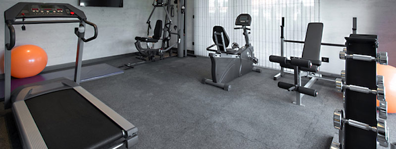 Rubber flooring for home gyms