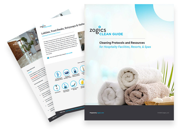 Download the Zogics Clean Guide for Hospitality Facilities, Resorts, and Spas
