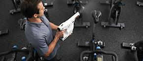 Protexus Sprayer in gym
