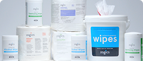 Zogics surface and hand wipes