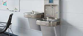 Elkay drinking fountain in facility