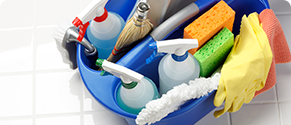 Cleaning supplies for janitorial use