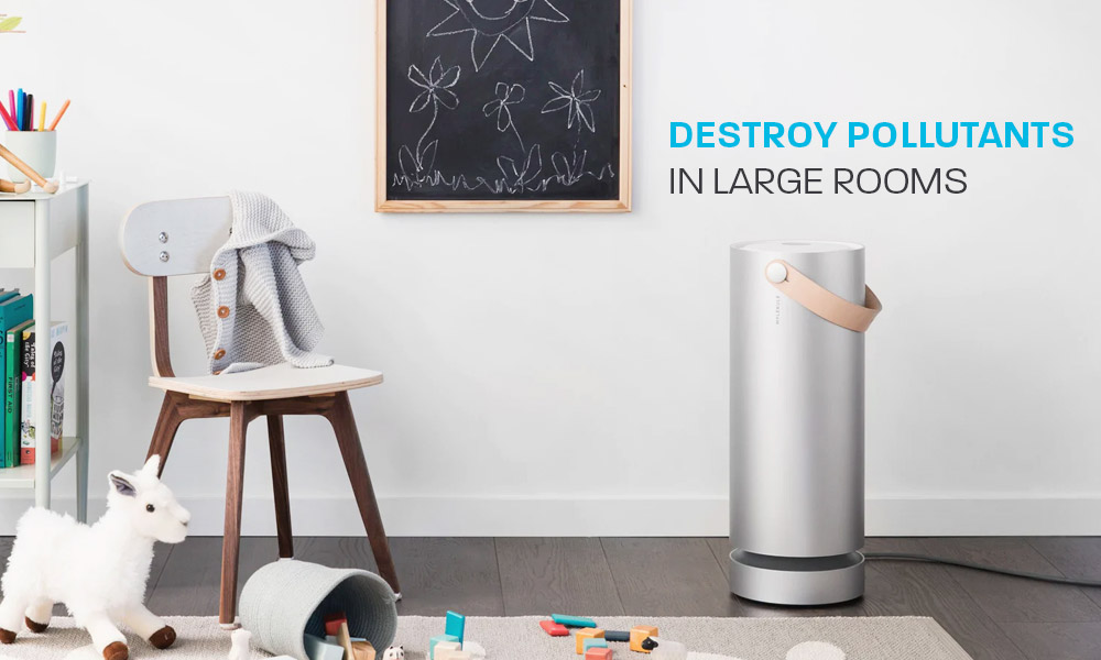 Molekule Air Purifier destroys pollutants in large rooms