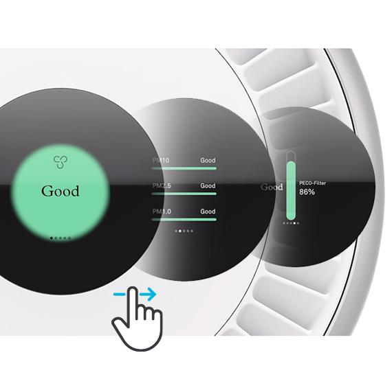 Molekule Air Pro touchscreen