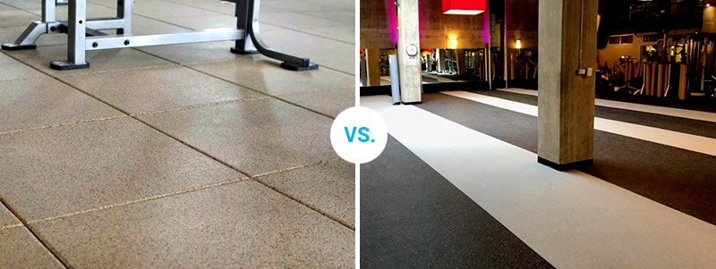 Rolled Rubber Flooring vs. Tile Rubber Flooring