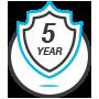 5-Year 100% Warranty