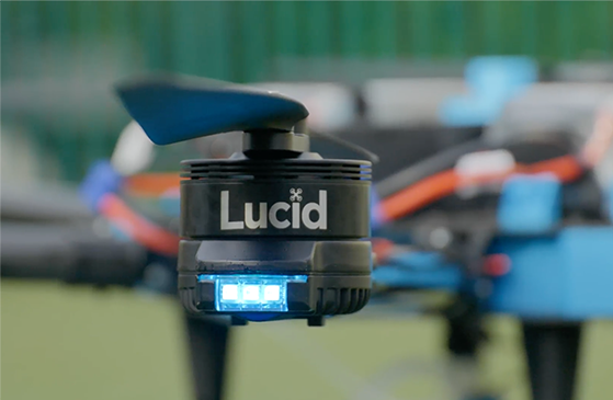Lucid Drone D1 Disinfecting close up