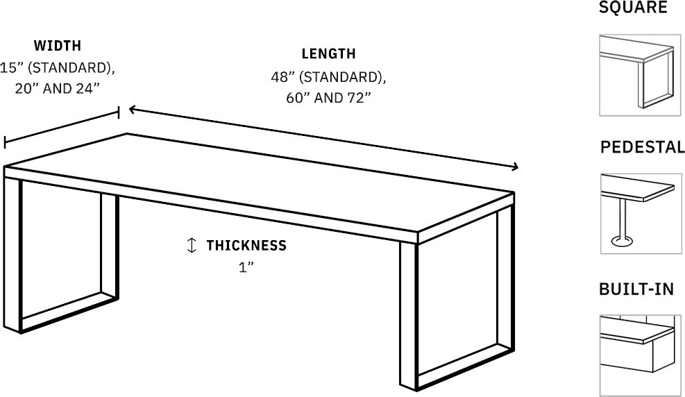 Specifications for locker benches