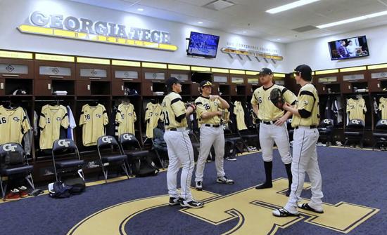 Zogics Laminate Team Lockers for Georgia Tech Baseball Team