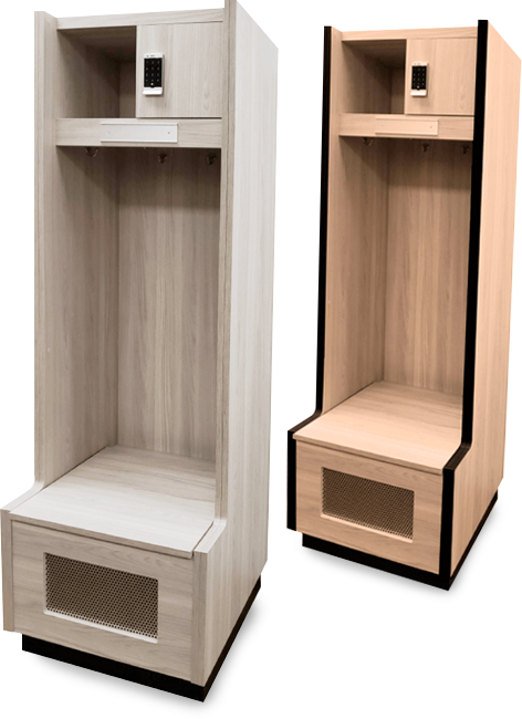 Zogics Team Lockers are available in a variety of styles and finishes
