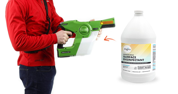 Add Zogics Hypochlorous Surface Disinfectant with your Victory Sprayer purchase