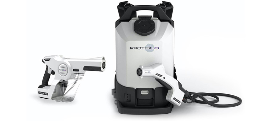 The Backpack and handheld Protexus Electrostatic Sprayers