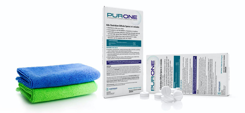 PUR:ONE effervescent disinfecting tablets