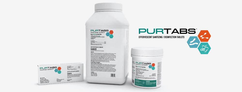 PURTABS Disinfecting Tablets for use with the Protexus Sprayers