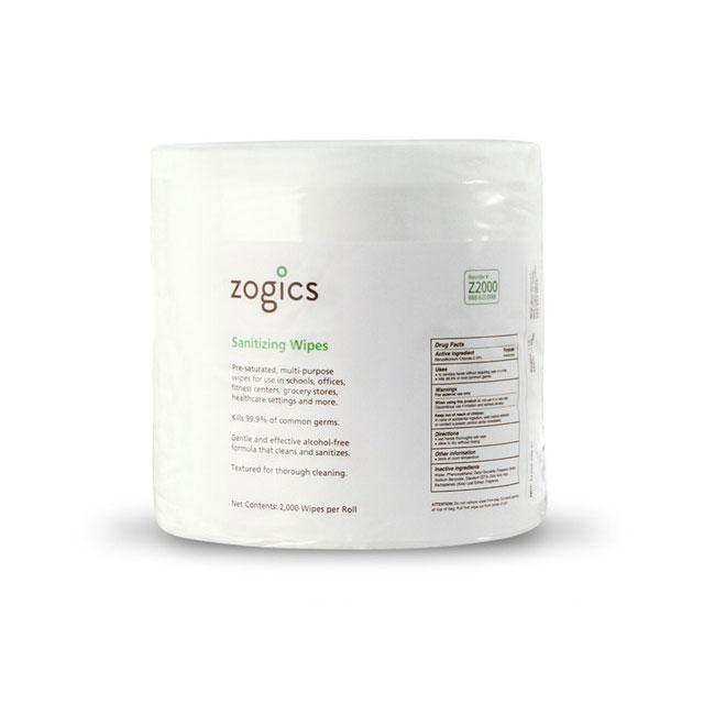 Zogics Sanitizing Gym Wipes