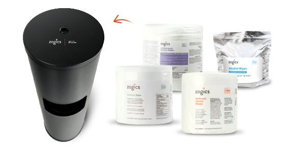 Shop Zogics Wipes for the Black Powder Coated Wipes Dispenser
