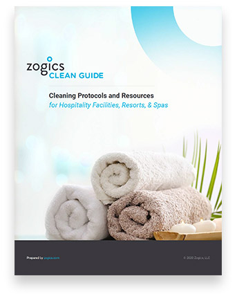 Download the Zogics Clean Guide for Hospitality Facilities, Resorts and Spas