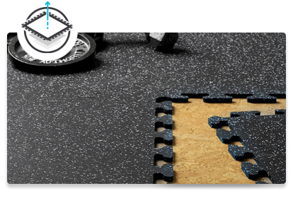 Zogics Puzzle Tile Rubber Flooring is portable and easy-to-install.