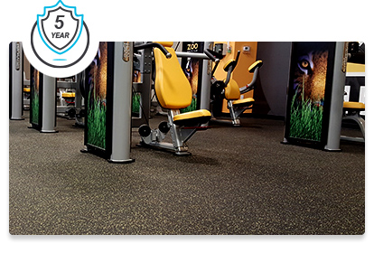 Zogics Rolled Rubber Flooring is backed by a 5 year warranty.