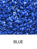 Blue color sample of Zogics gym turf flooring.