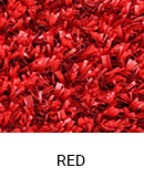Red color sample of Zogics gym turf flooring.