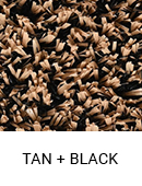 Tan with Black color sample of Zogics gym turf flooring.