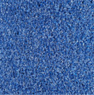 Blue color sample of Zogics gym turf flooring.