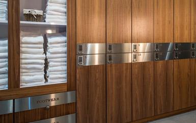 Zogics Club Wood Lockers with towel shelf