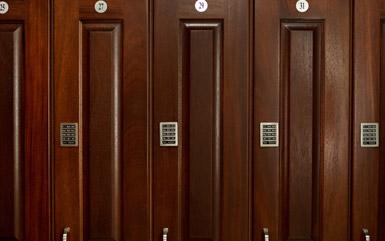 Zogics Club Wood Lockers doors